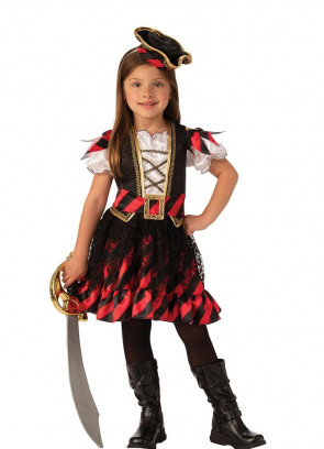 Pirate Captain with Mini Hat - Girls Costume