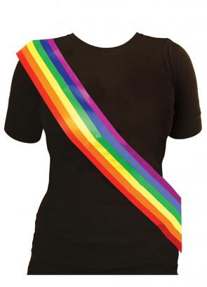 Gay Pride Rainbow Sash (Nylon )