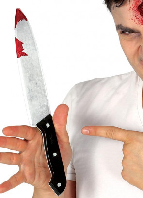 Realistic Bloody Kitchen Knife 30cm