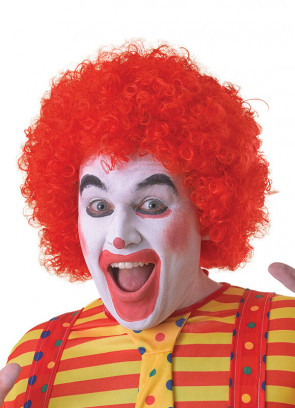Red Clown Afro Pop Wig