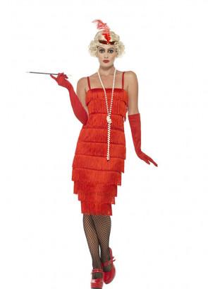 Red Fringe Flapper Costume