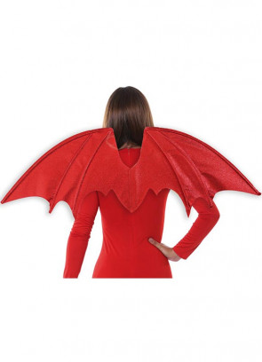 Red Glitter Devil / Dragon Wings 86x38cm