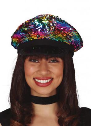 Reversible Sequin Police Hat