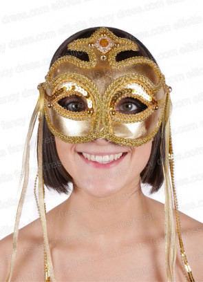 Rialto Gold Eye Mask
