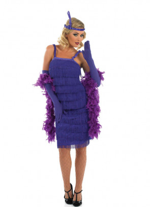Roaring 20's Flapper (Purple) Costume