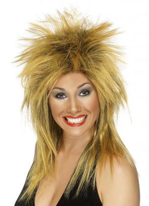 Rock Diva Wig - Ginger Tina Turner