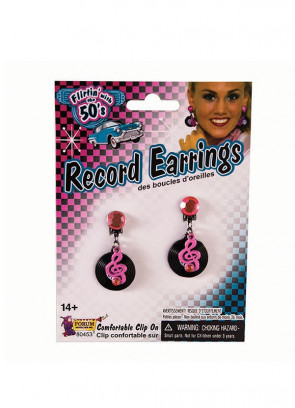 50s Rock & Roll Record Earrings