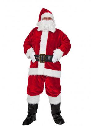 Plush Santa Suit Costume (8pcs)
