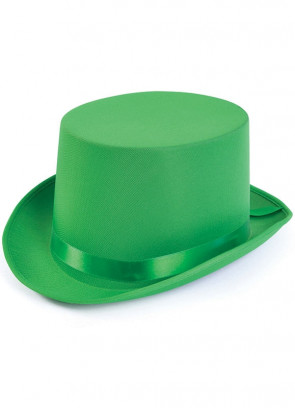 Top Hat - Satin Green
