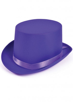 Top Hat - Satin Purple