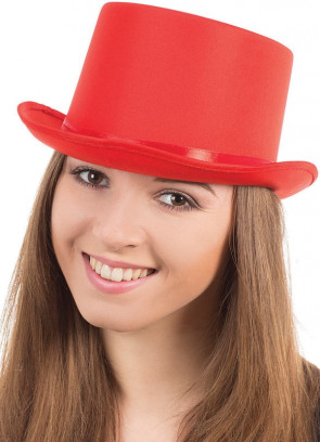 Top Hat - Satin Red