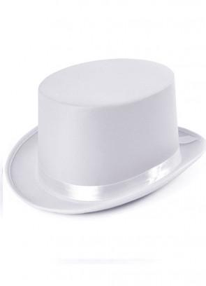 Top Hat - Satin White