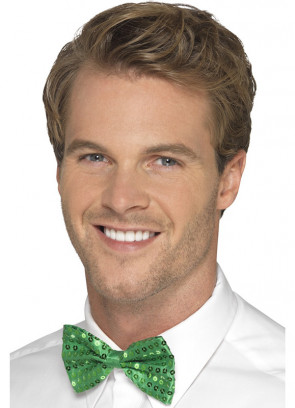 Sequin Bow-Tie - Green