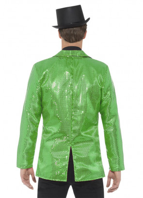 Sequin Jacket - Green -Male