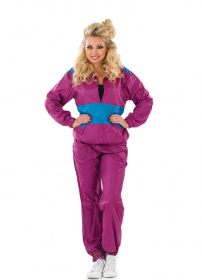 Purple Shell-Suit - 80s Costume