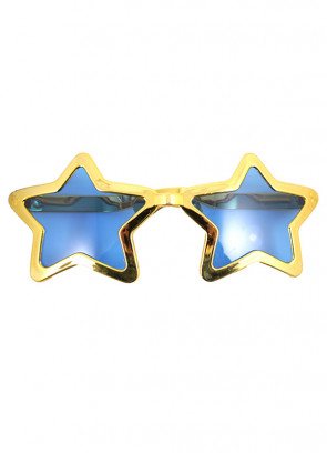 Giant Star Sunglasses (Gold)