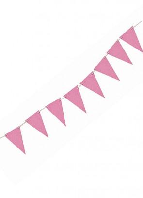 Light Pink Glitter Banner Bunting 8ft Long