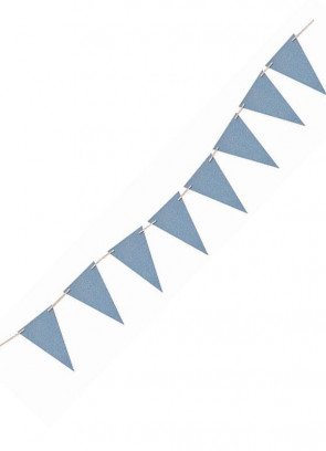 Light Blue Glitter Banner Bunting 8ft Long