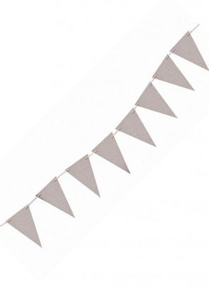 Silver Glitter Banner Bunting 8ft Long