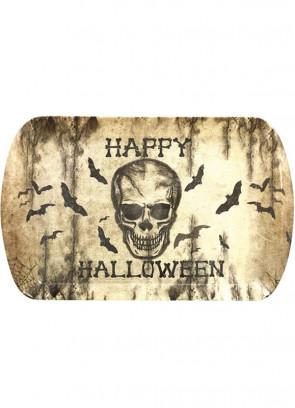 Halloween Skull & Bats Sturdy Rectangle Tray - 24cm x 39cm