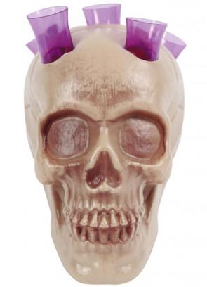 Halloween Skull Shot Holder - test-tube style shot glasses 13cm x 8cm