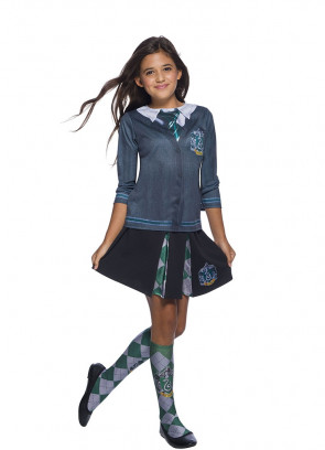 Slytherin Pleated Skirt - Girls - Harry Potter