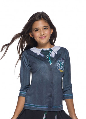 Slytherin Costume Top - Girls - Harry Potter