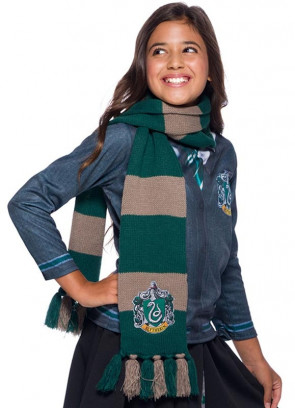 Deluxe Slytherin Embroidered Badge Scarf 180cm - Harry Potter
