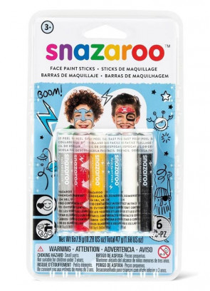 Snazaroo Boys Face Painting Sticks – 6 Pack