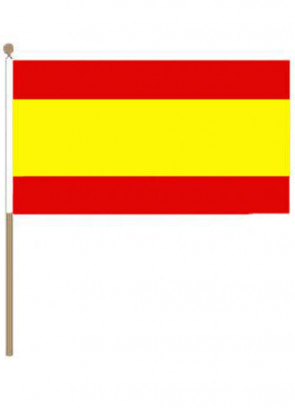 Spain (No Crest) Hand Flag