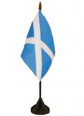 "Scotland - St Andrew - Table Flag 6"" x 4"""