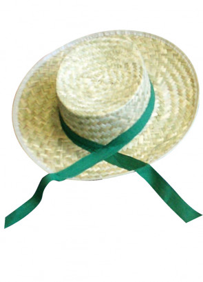 Straw Boater with Green Ribbon (Titanic)