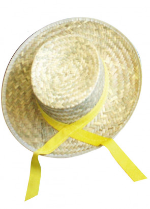 Straw Boater with Yellow Ribbon (Titanic)