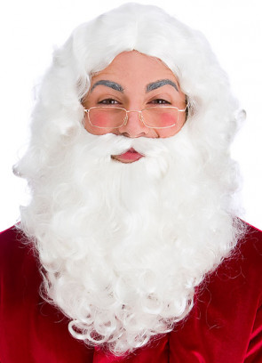 Santa Beard and Wig (Glasses inc)