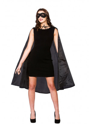 Superhero Cape and Mask (Black)