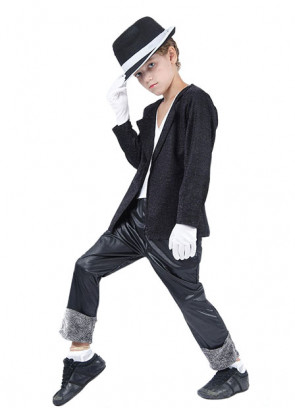 80's Superstar Black - Michael Jackson - Boys Costume (Includes Hat)