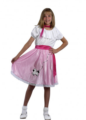 50's Teeny Bopper - Pink - Girls Costume