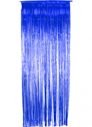 Tinsel Slash/Shimmer Curtain - Blue 3ft x 9ft