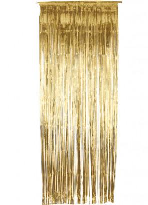 Tinsel Slash Curtain (Gold) 3ft x 9ft