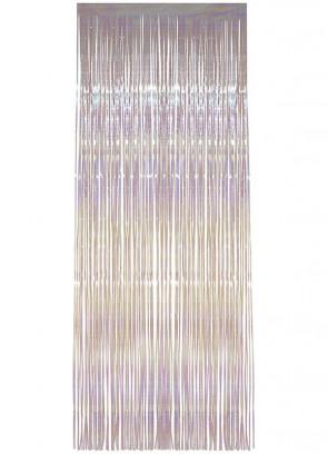 Tinsel Slash/Shimer Curtains – Pearly White