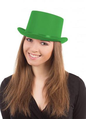 Top Hat - Satin Green