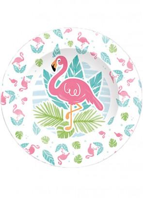 Tropical Flamingo Paper Plates 22.5cm - 8pk