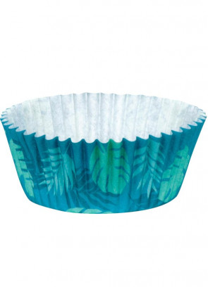 Tropical Leaf Cupcake Paper Cases – 50 pack