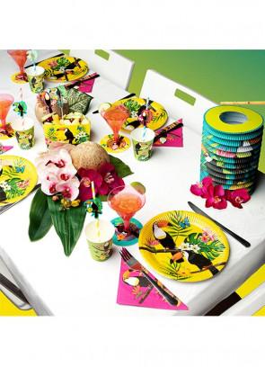 Tropical Toucan Large Paper Bowls 14cm - 4 pack