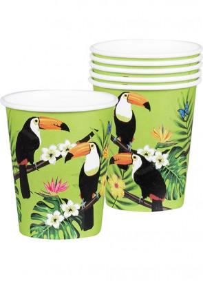 Tropical Toucan Paper Cups 25cl – 6pk