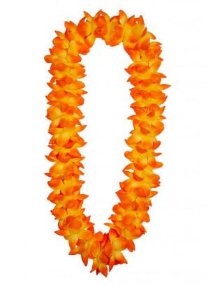 Hawaiian Two Tone Orange Orchid Lei