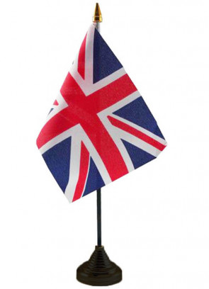 United Kingdom (British, UK, Union Jack) Table Flag