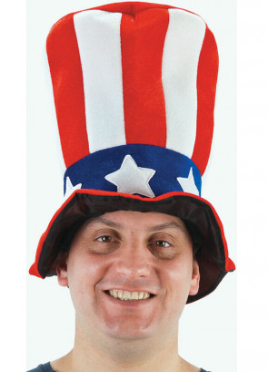 Stovepipe Uncle Sam Top Hat (American Flag)