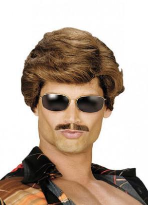 70s Used Car Salesman Brown Wig
