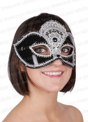 Lily Black and Silver Eye Mask